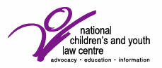 National Children's and Youth Law Centre logo with text