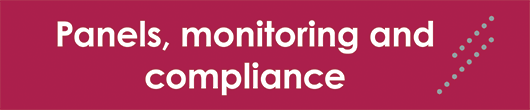 panels, monitoring and compliance