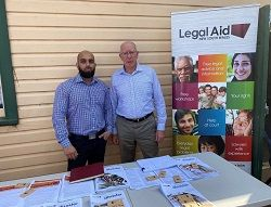 Legal Aid NSW lawyer Zaky Orya was joined by Governor-General David Hurley AC DSC (Retd)