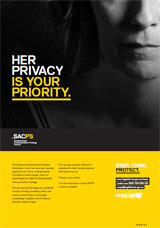 Poster - 'her privacy is your priority