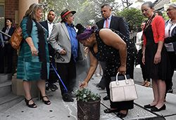A smoking ceremony formed part of the opening ceremony for the Youth Koori Court in Surry Hills, Sydney