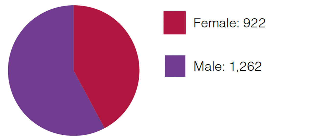 Panel lawyers by gender